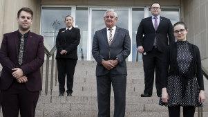 Indigenous Australians Minister Ken Wyatt with members of the Indigenous graduate program in Canberra this week.