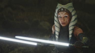 Destined for her own Star Wars series: Jedi knight Ahsoka Tano (Rosario Dawson).