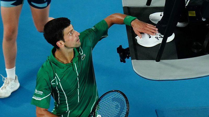 Fine likely for hands-on Djokovic but other sports aren't so forgiving