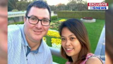 George Christensen and wife April, who he met in the Philippines.