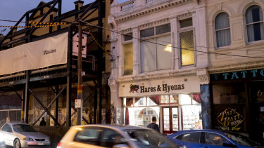The raid took place in the apartment above the Hares & Hyenas bookshop and cafe.