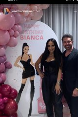 Bianca Roccisano pictured with Rich Lister Jonathan Hallinan.