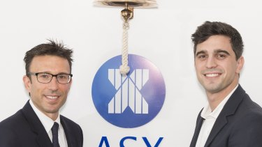 Co-founders Anthony Eisen and Nick Molnar floating the company in 2016. The shares first listed at $1.