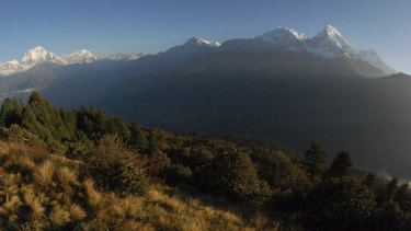 The Annapurna Range in Nepal where the trekkers are believd to have gone missing.