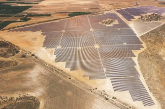 Extra transmission capacity will encourage the development of more renewable energy in north-west Victoria, such as the Karadoc solar farm near Mildura.