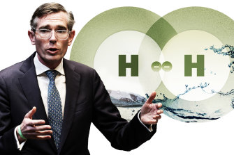 NSW Premier Dominic Perrottet has backed greenish  hydrogen to boost the system  and assistance   trim  c  emissions.