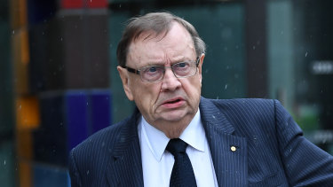 ASIC is pursuing former Tennis Australia directors Harold Mitchell (pictured) and Steve Healy over awarding of Australian Open TV broadcast rights.