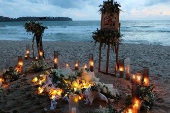 Nicole Sauvain-Weiskopt's memorial took place on her favorite beach in Phuket.