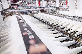 One of Australia Post's parcel sorting facilities in Melbourne.
