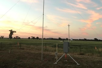 The portable automatic weather stations can be assembled in 15 minutes.