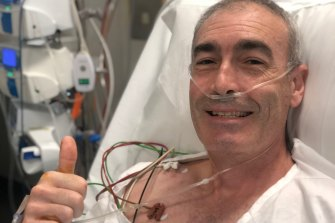 Greg Page is recovering in hospital.