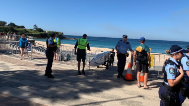 Police shut down Coogee Beach on Friday.