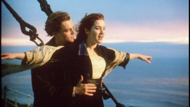 Winslet's breakout role as Rose in Titanic.