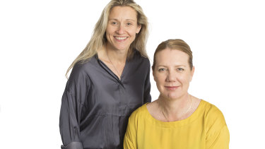 Dr Mary Webberley (L) and Dr Josephine Muir are commercialising the Noisy Guts technology.