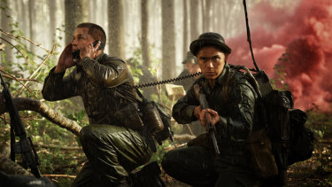 Travis Fimmel as Major Harry Smith in Danger Close: The Battle of Long Tan.