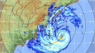Cyclone Fani in the Bay of Bengal on Thursday.
