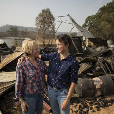 """I was just nauseous with fear,"" says Nicole Bos, Sandy's niece. The women defended the family homestead together."