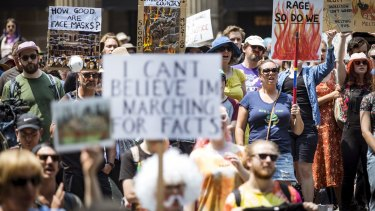 Protesters rallied in the streets of Melbourne on Saturday.