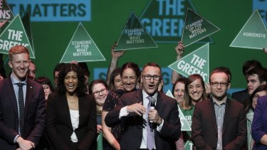The Greens election night party in July 2016.