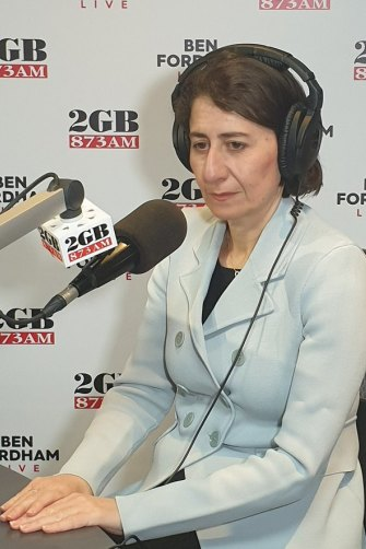 Premier Gladys Berejiklian speaks to Ben Fordham about her relationship with Daryl Maguire on Monday.