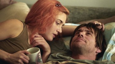 Kate Winslet and Jim Carrey in Eternal Sunshine of the Spotless Mind.