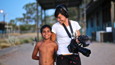 Dujuan with filmmaker Maya Newell
