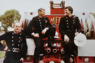 Peter, centre, was a fireman for 30 years.