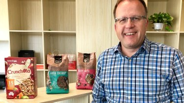 Rory Macleod, the chief executive of ASX-listed Freedom Foods, at the company's China headquarters in Shanghai.