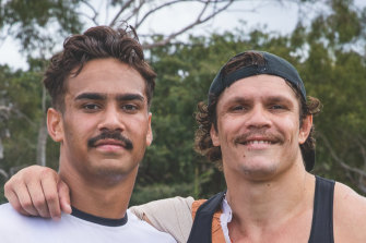 Wests Tigers recruits James Roberts and Daine Laurie.