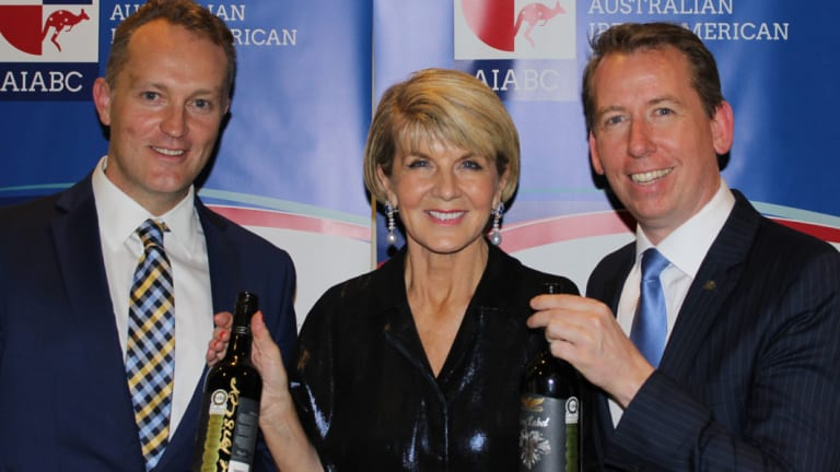(L-R) AIABC board member Shaun Cartwright, former foreign Minister Julie Bishop, and AIABC founding director John Margerison.