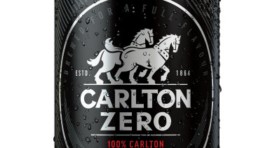 Sales of CUB's non-alcoholic beer Carlton Zero are on the rise.