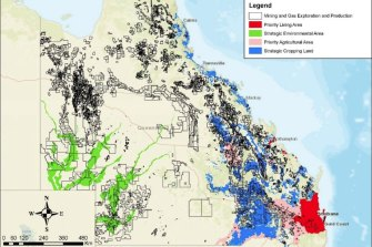 A breakdown of regional planning interest areas and mining and petroleum titles.