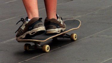 FILE IMAGE: The skateboard assault was stopped by a passer-by and a 37-year-old man will face court this month.