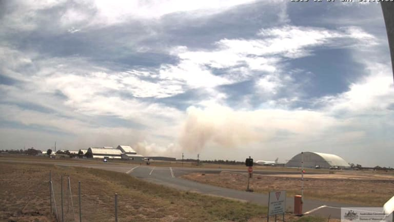 Smoke from the Little River grassfire visible on radar and on Avalon Airport webcam.