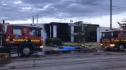 Firefighting crews were called to Williamsons Road in Maribyrnong about 5.30am.