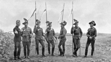 New South Wales Lancers in South Africa during the Anglo-Boer war.