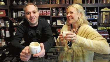 Tom and Lilly Haikin introduced Max Brenner coffees to Australia.