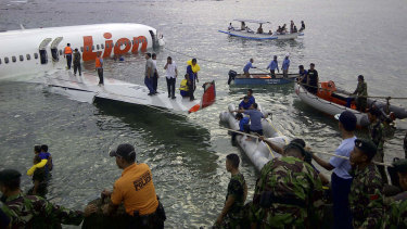Crash site of the Lion Air plane in Indonesia. The disaster was partly blamed on inadequate pilot training.