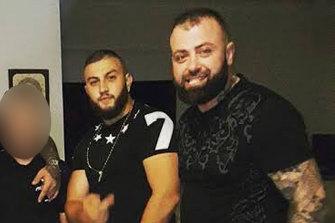Anthony Mokbel (left), with murdered underworld figure Nabil Maghnie.