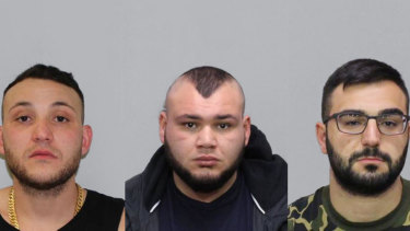 Abdullah El Nasher, left, Ali El Nasher and Mikhael Myko are wanted over a shooting at a Melbourne boxing event