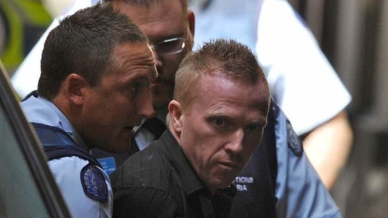 Adrian Bayley in court during the Jill Meagher trial.