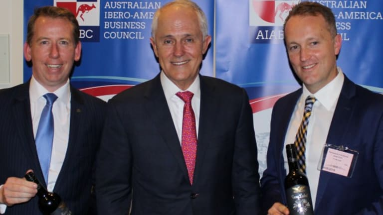 (L-R) John Margerison, AIABC founding director, former PM Malcolm Turnbull, and AIABC board member Shaun Cartwright at the council's federal budget leaders event.