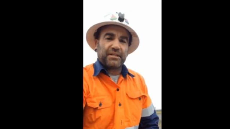 Former coal miner Micah Weekes copped an earful after he illegally boarded a coal train to stop it from leaving Newcastle.