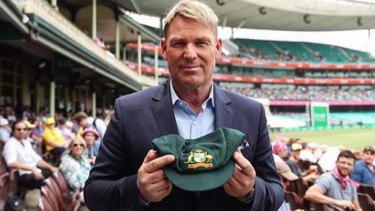 Shane Warne and his baggy green.  The CBA was the winning bidder.
