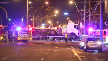 The Bell and High streets intersection, in Preston, was expected to be closed to traffic through the morning peak.