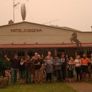 Spirits are still high at Hotel Cudgewa.